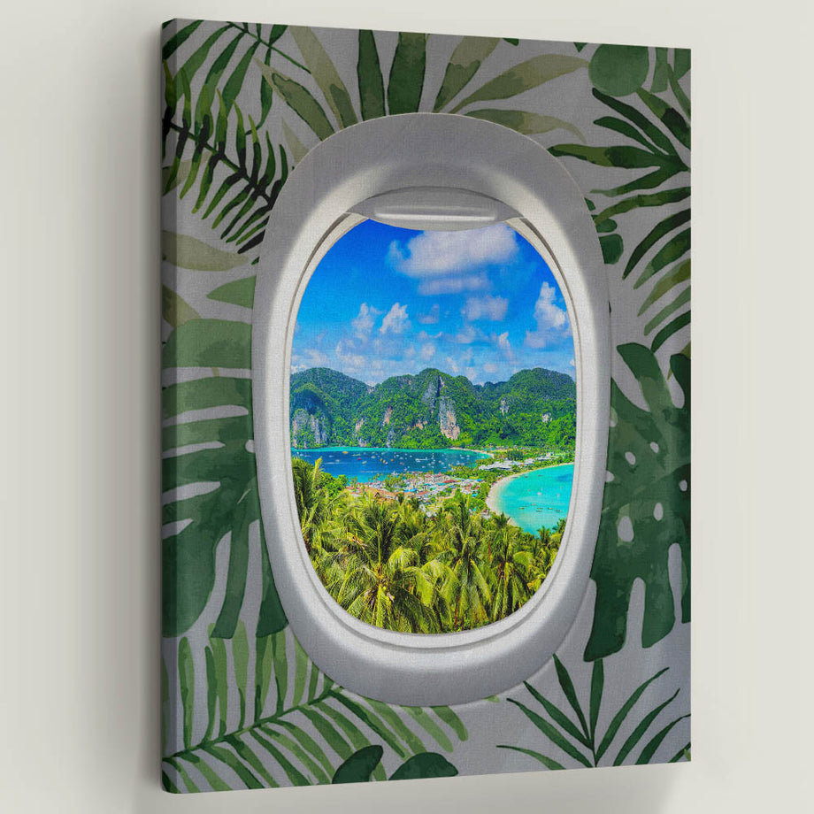 "Live life with the windows wide open, and let the light shine! Introducing ""Frequent Flyer View (Tropical)"" a part of our Unwind Collection."
