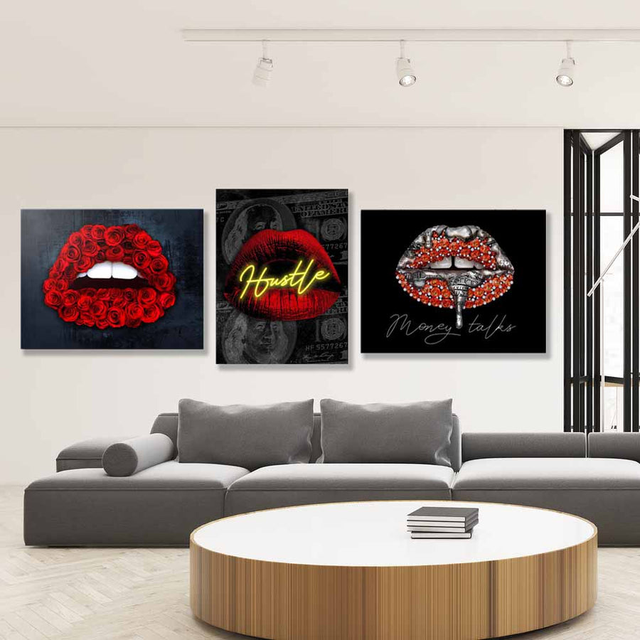 Hot Red - Symbolic Designs Inspirational Canvas Art Bundle
