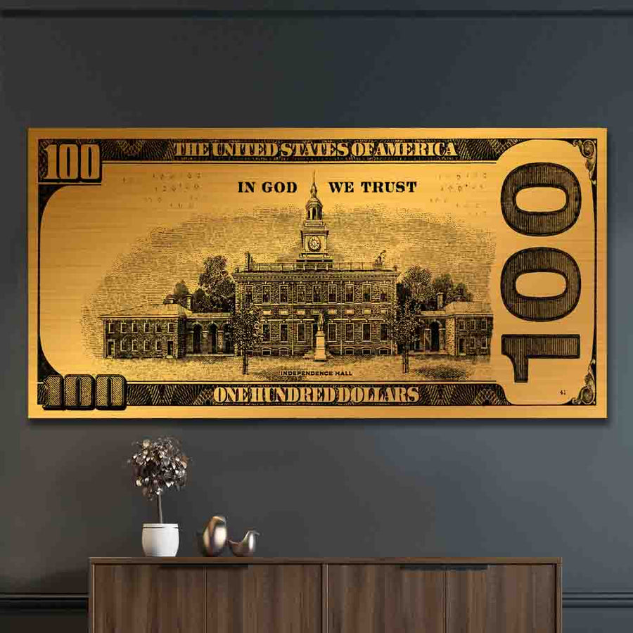 Hundred Golden Bill - Symbolic Designs