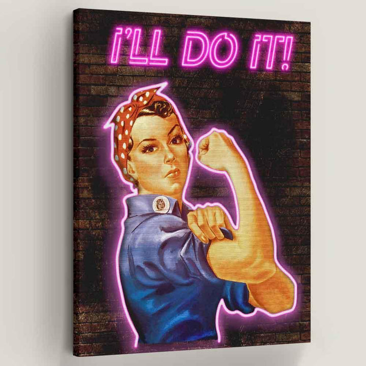 I'll Do It Rosie the Riveter Canvas Art