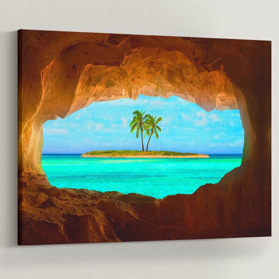 "Paradise is not a place, it's a state of mind. Introducing ""Island Cave Paradise"" a part of our Unwind Collection."