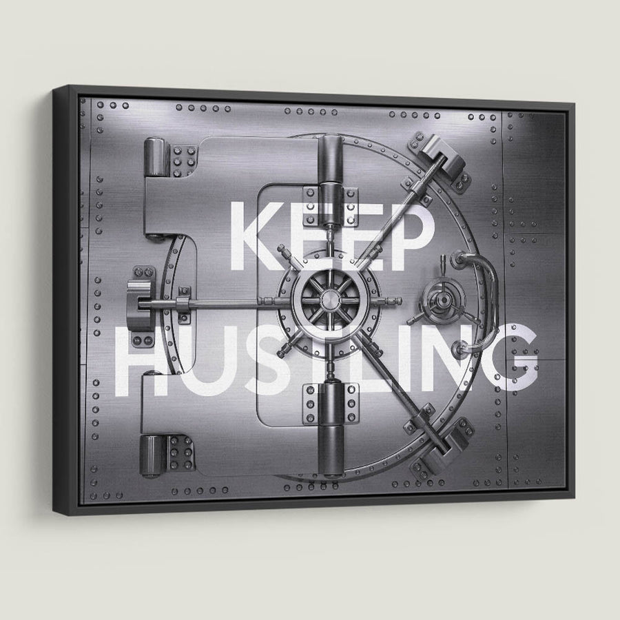 Keep Hustling Vault Motivational Canvas Art by Symbolic Designs