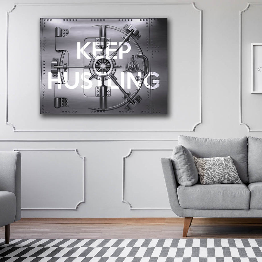 Keep Hustling Vault Inspirational Canvas Art by Symbolic Designs