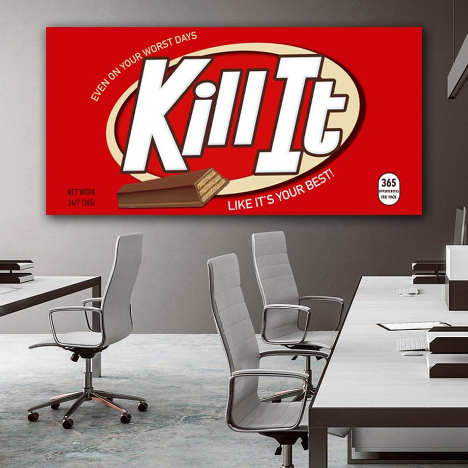 Kill It large format canvas  wall art