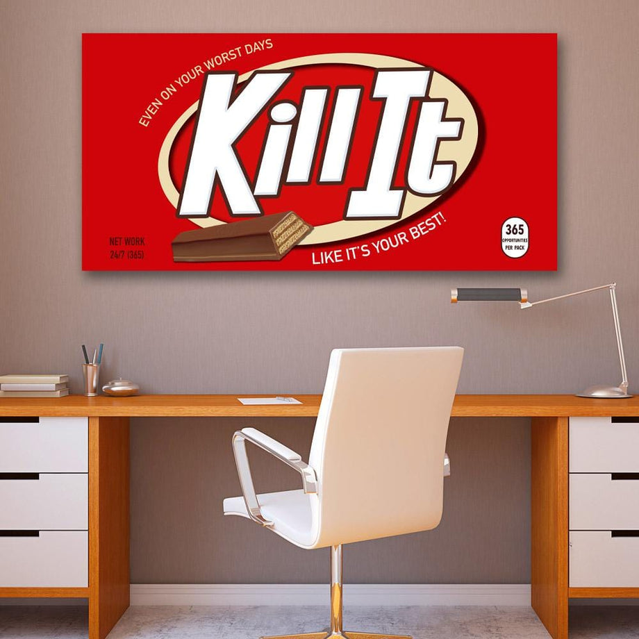 Kill It office wall décor Canvas Art
