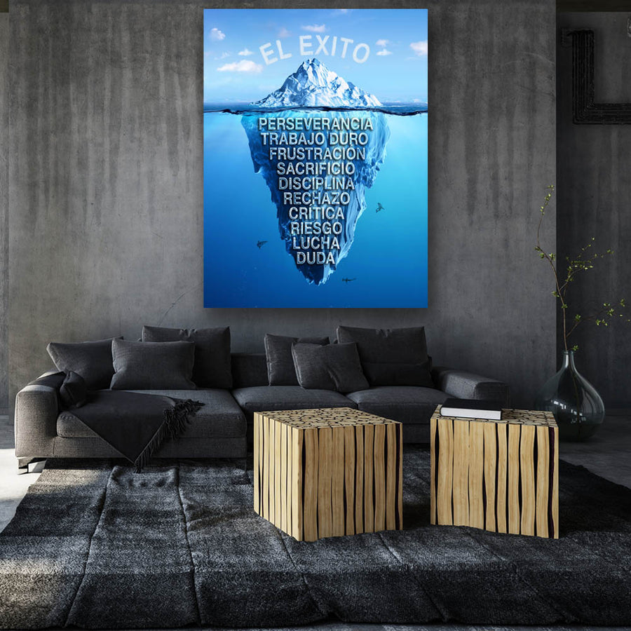 El Exito Success Iceberg Canvas Art for Motivation