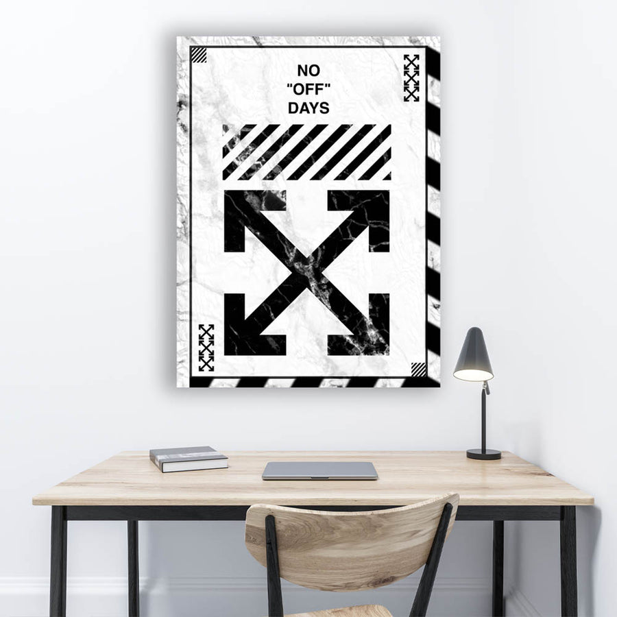 Off-White No Days Off Virgil Abloh Canvas Art for Inspiration by Symbolic Designs