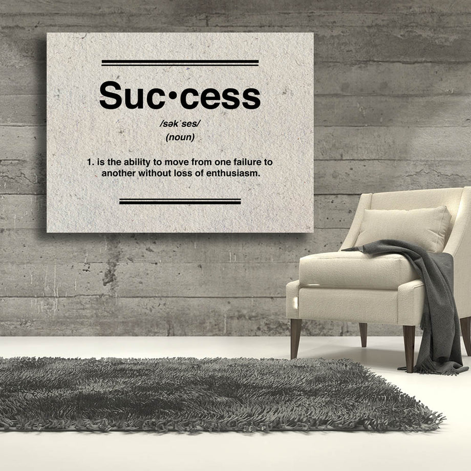 Success Definition Canvas Art  for Inspiration by Symbolic Designs