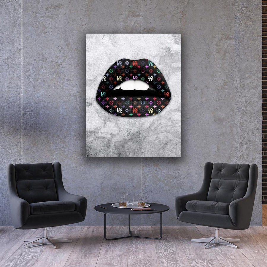 Love That Brand Lips Inspirational motivational Canvas Art decor for home office gym wall artwork by Symbolic Designs