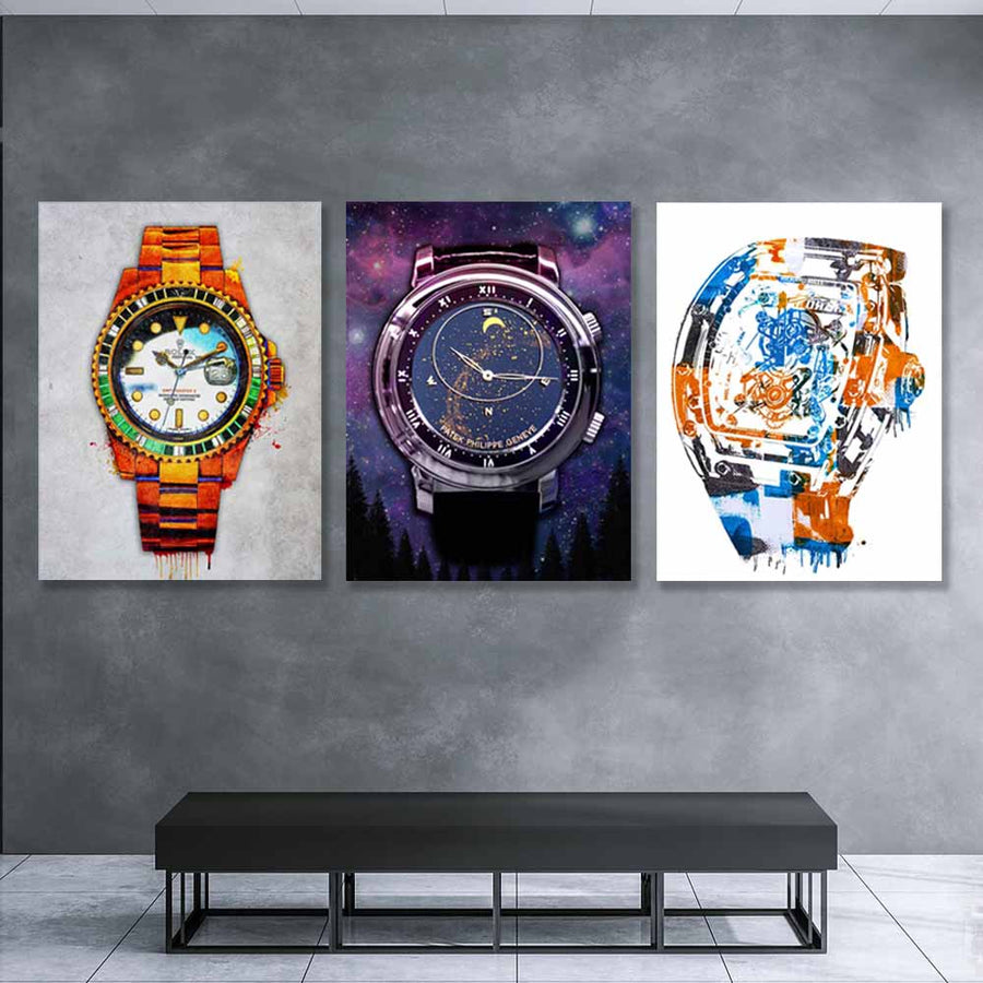 Luxury Watches Canvas Art Bundle - Symbolic Designs Amazing Art