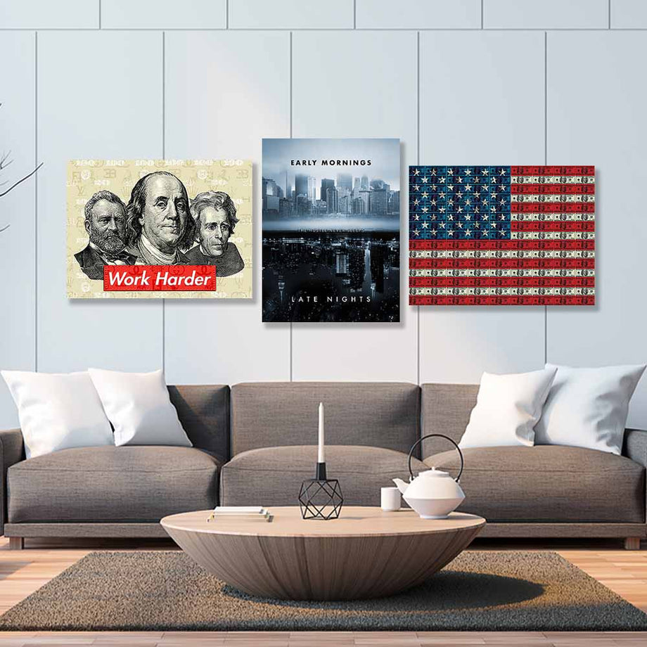 Making Money Bundle - Symbolic Designs Inspirational Canvas Art