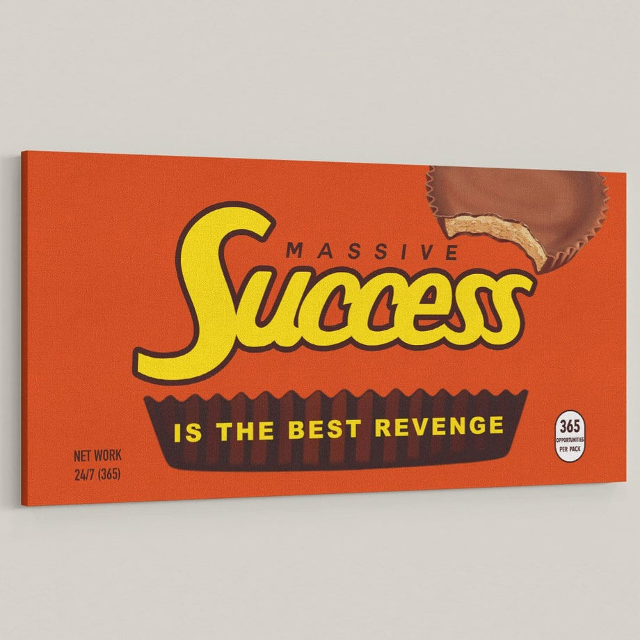 Massive Success Chocolate Candy Bar Reeses Art Canvas