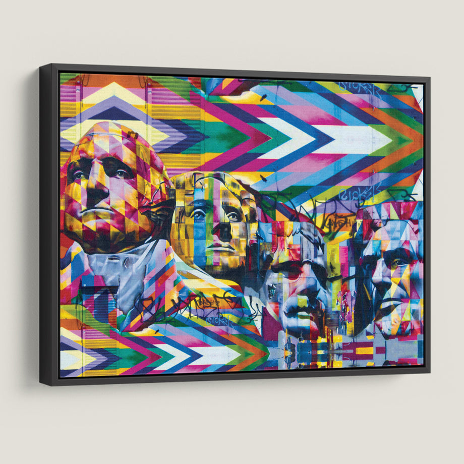 Mount Rushmore Mural Graffiti Canvas Art