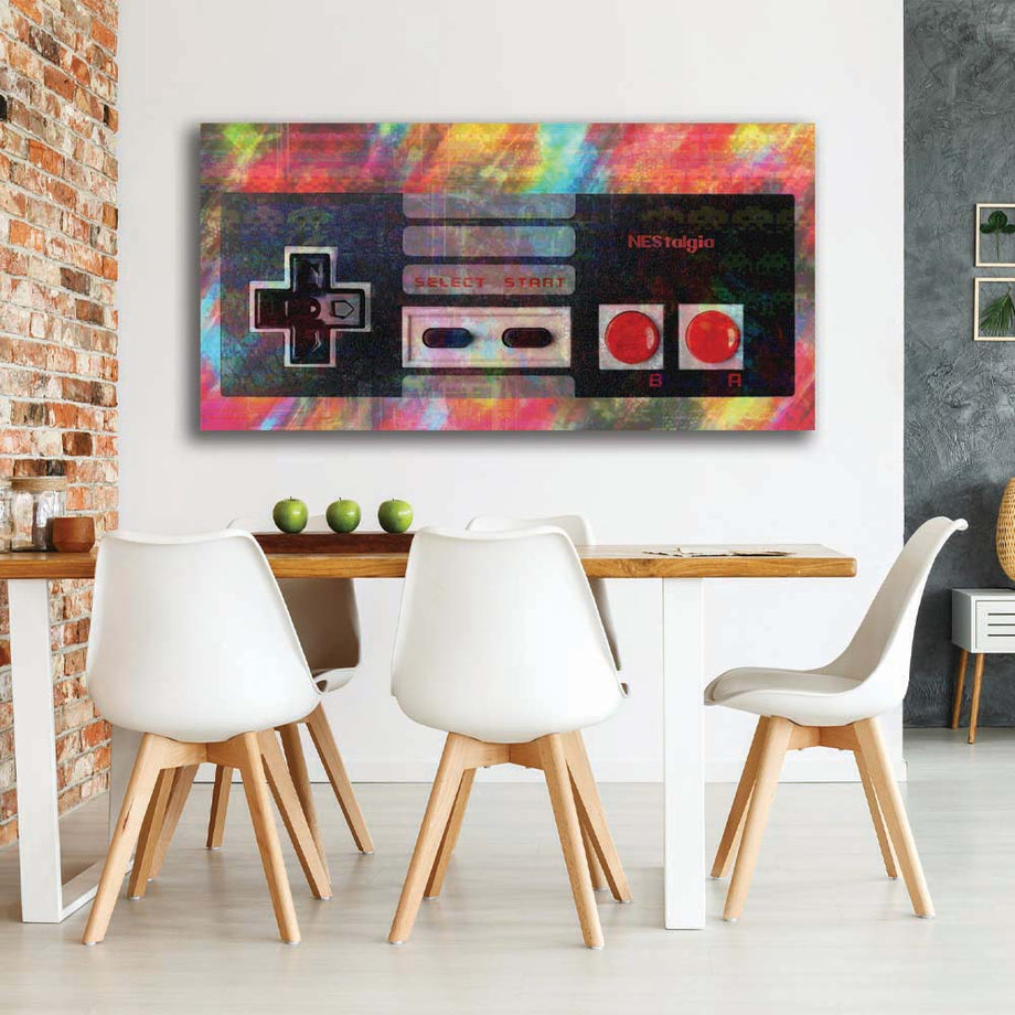 NEStalgia Controller-Canvas-Symbolic Designs - Monopoly Inspired Game On Motivational Art