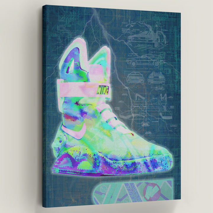 "Nike Mag Blueprint Motivational Art by Symbolic Designs. Great Scott! Introducing ""Nike Mag Blueprint"" a part of out Walk of Fame Collection. The Nike Mag was originally a fictional sneaker that was first seen in the 1989 film Back to the Future II."