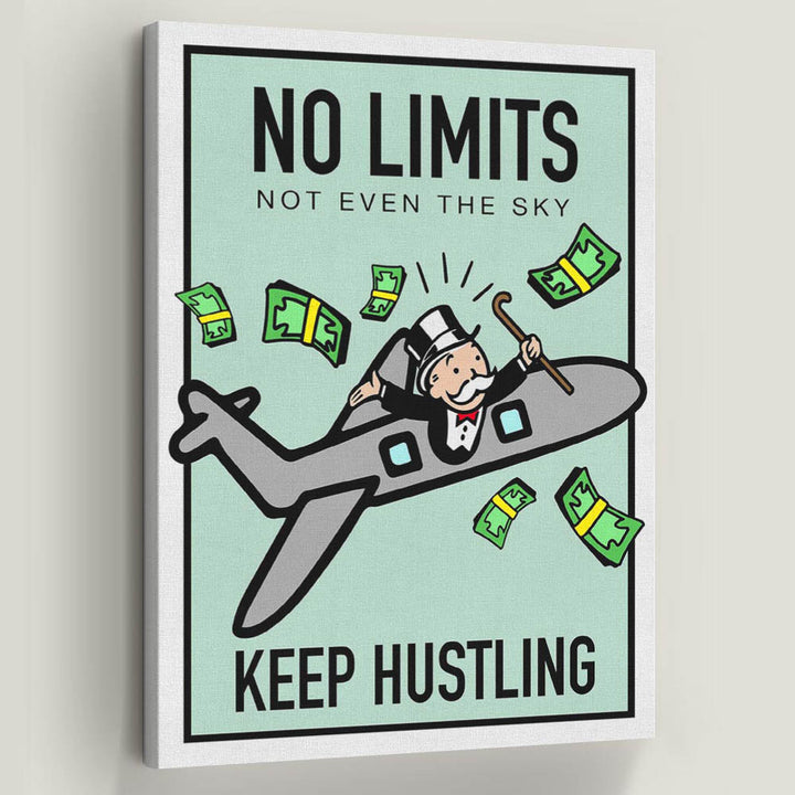 No Limits-Canvas-Symbolic Designs - Monopoly Inspired Game On Motivational Art