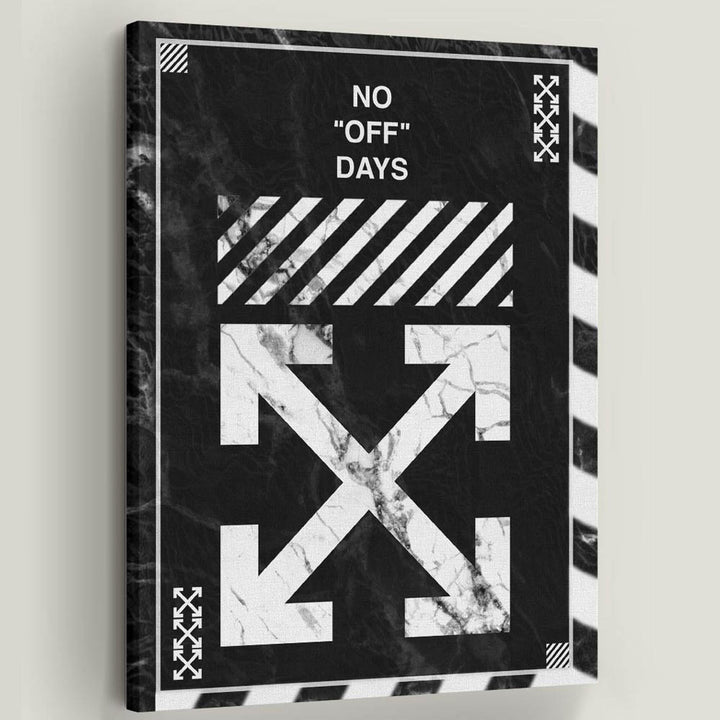 Off-White No Days Off Virgil Abloh Inspirational Canvas Art by Symbolic Designs