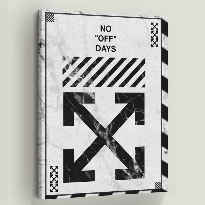 "Off-White No Days Off Virgil Abloh Canvas Art. Always be on point! Introducing ""No ""Off"" Days White"" a part of our Inspirational Art Collection"