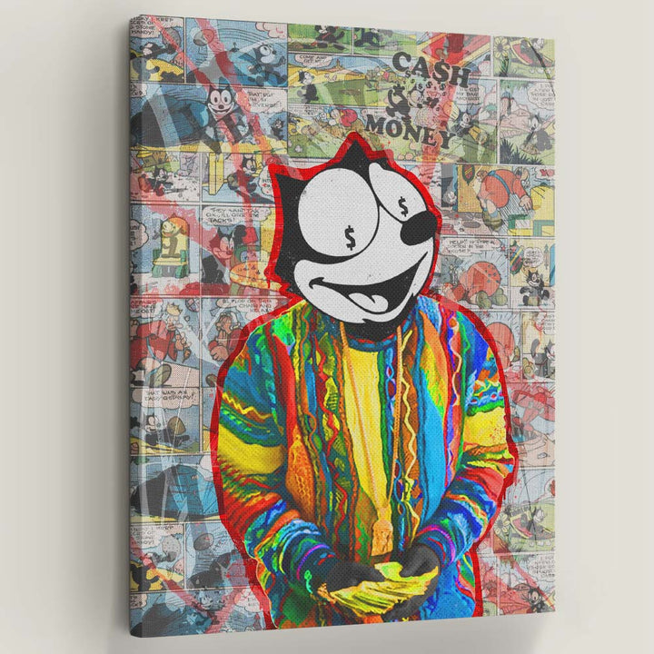 "Notorious Felix Motivational Canvas Art by Symbolic Designs. Count it up! Introducing ""Notorious Felix"" now a part of our Cash Money Collection."