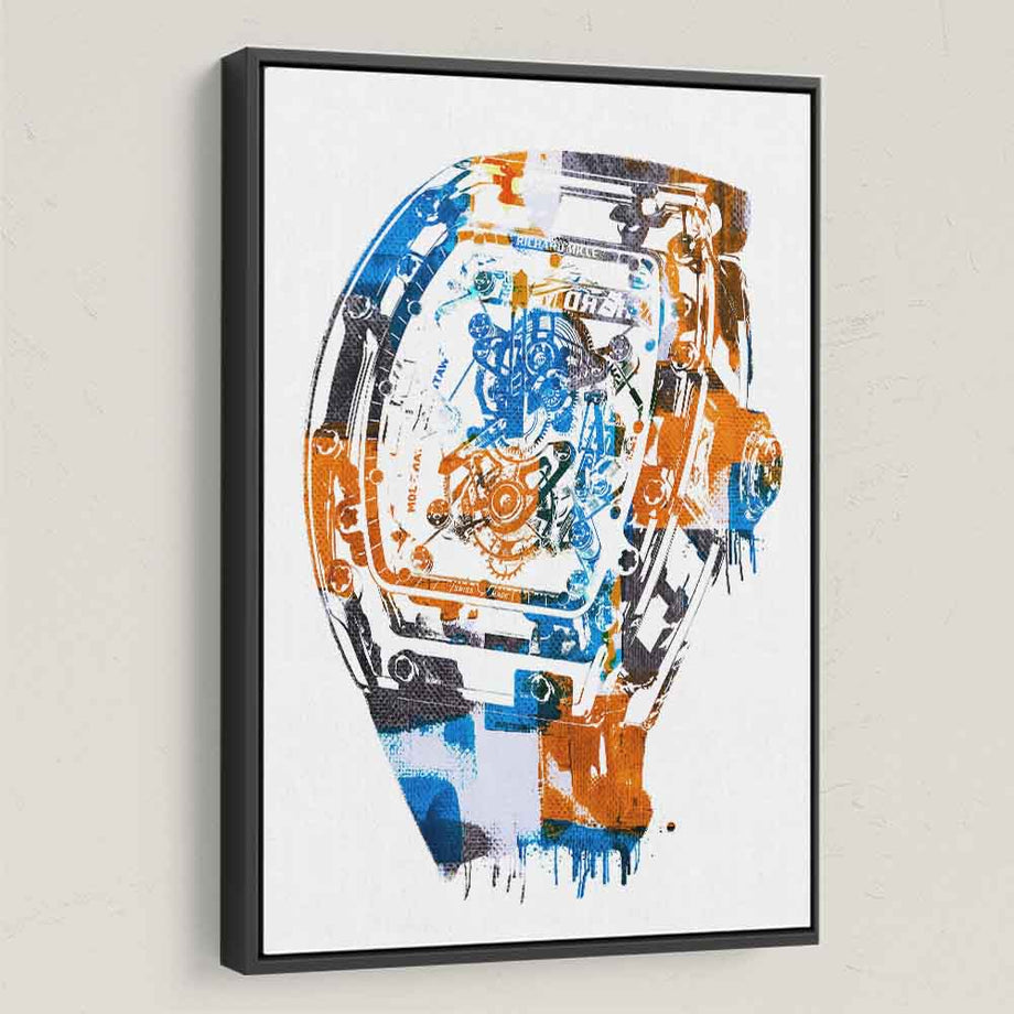 Richard Mille Modern Abstract Watch Canvas Art