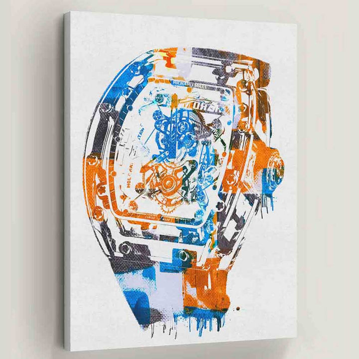 Richard Mille Modern Abstract Watch Mindset motivational inspirational art artwork prints on canvas wall decor giclees for home gym office by Symbolic Designs
