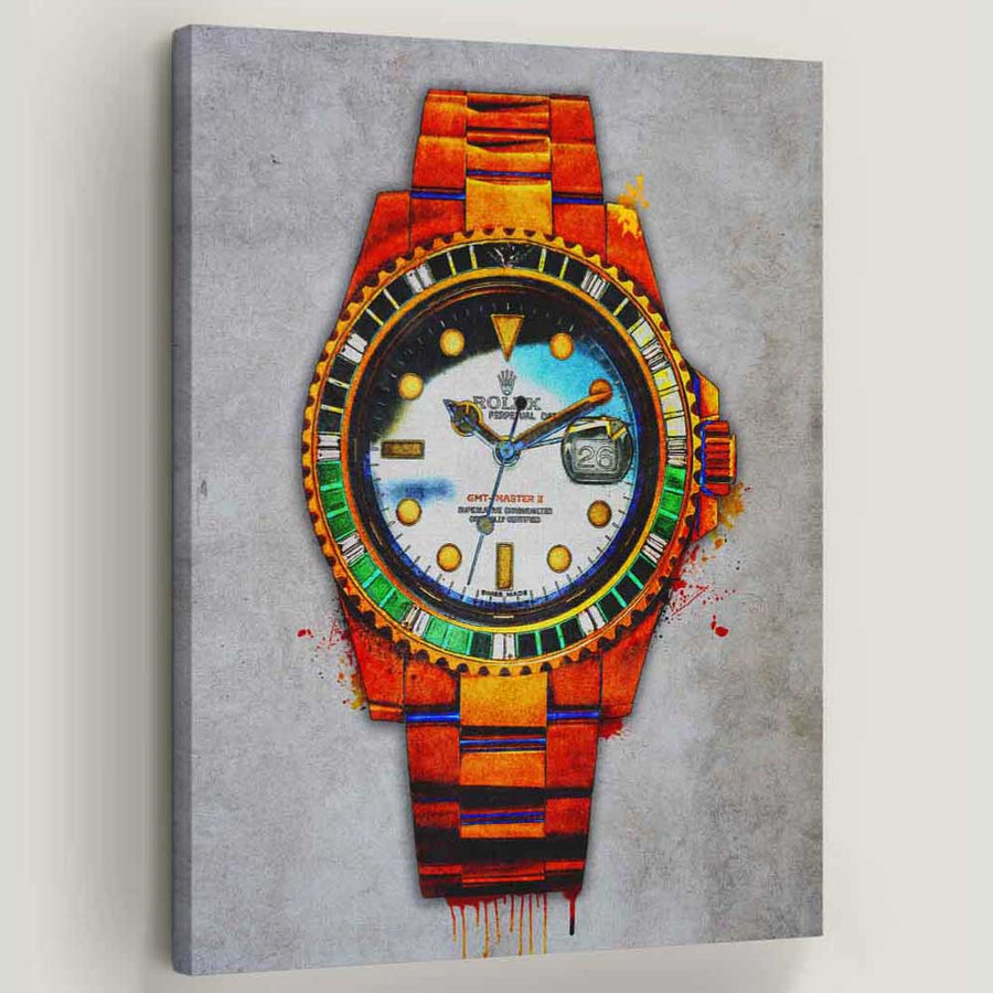 "Rolex Me Canvas Art by Symbolic Designs. Time is money. Introducing ""Rolex Me Art Watch"" a part of our Luxury Watch Art Collection."