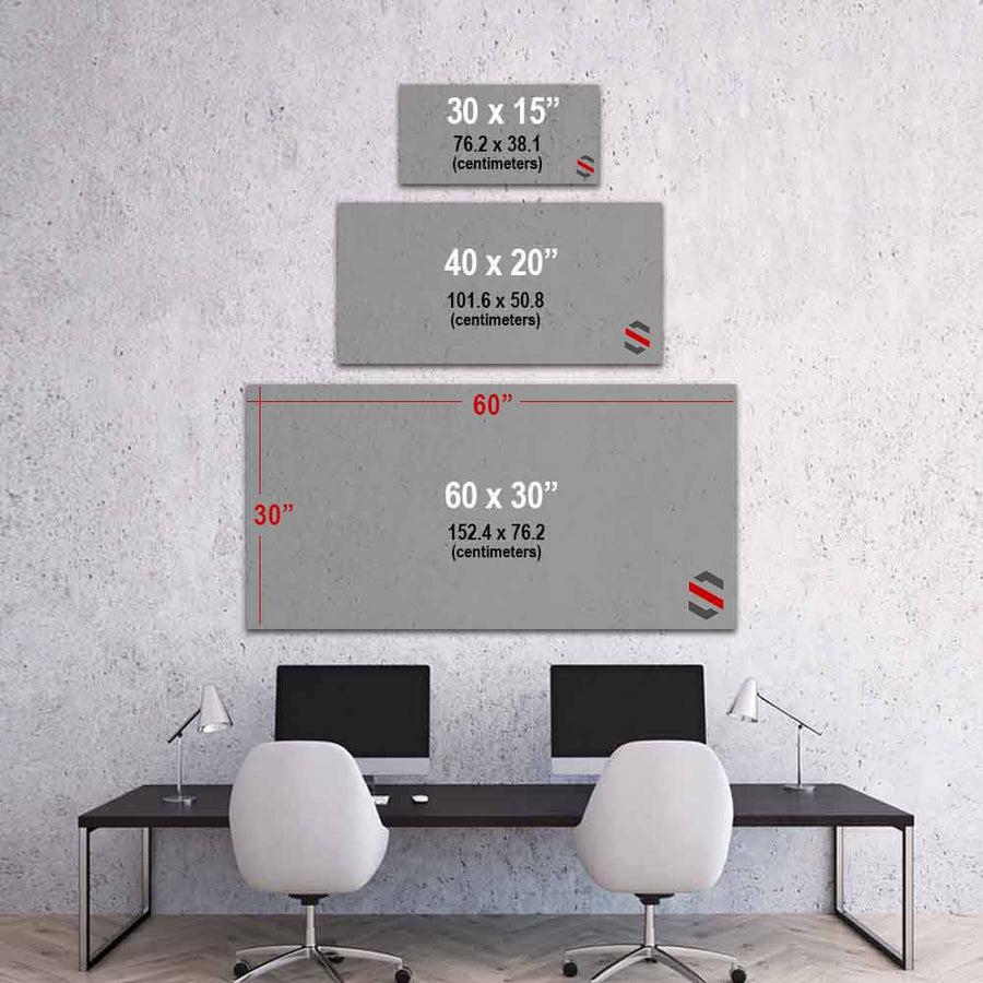 Power Molecule Science Elements Periodic Table Mindset motivational inspirational art artwork prints on canvas wall decor giclees for home gym office by Symbolic Designs size chart