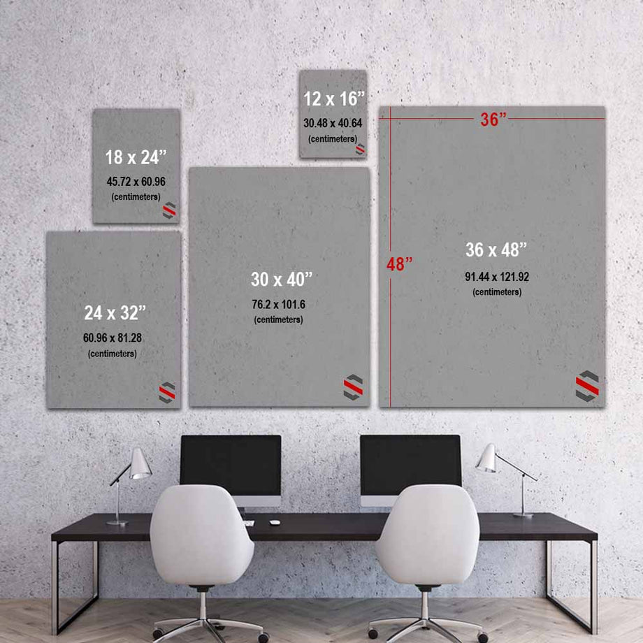 Waiting For A Sign inspirational motivational canvas art for home office gym by symbolic designs size chart