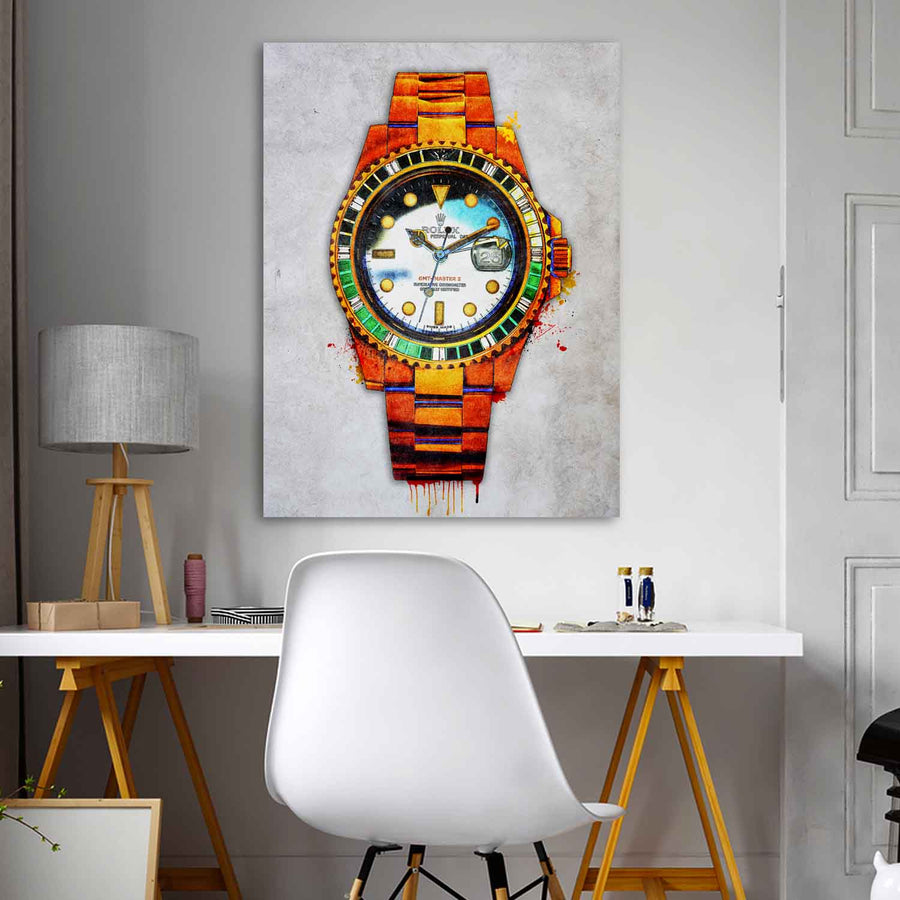 Rolex Me décor Entrepreneur Passion Mindset motivational inspirational art artwork prints on canvas wall decor giclees for home gym office by Symbolic Designs