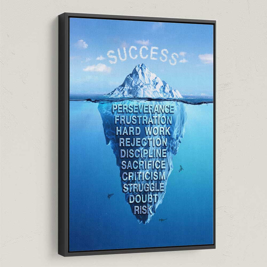 Success Iceberg Canvas Art for Inspiration and motivation by Symbolic Designs