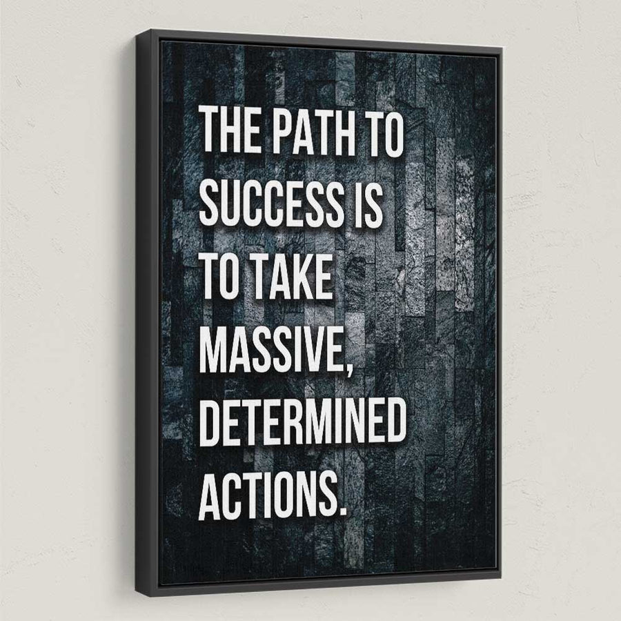 Path To Success Motivational Canvas Art by Symbolic Designs
