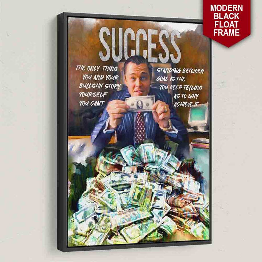 Success Wolf of Wall street Framed Wall Art Canvas Prints