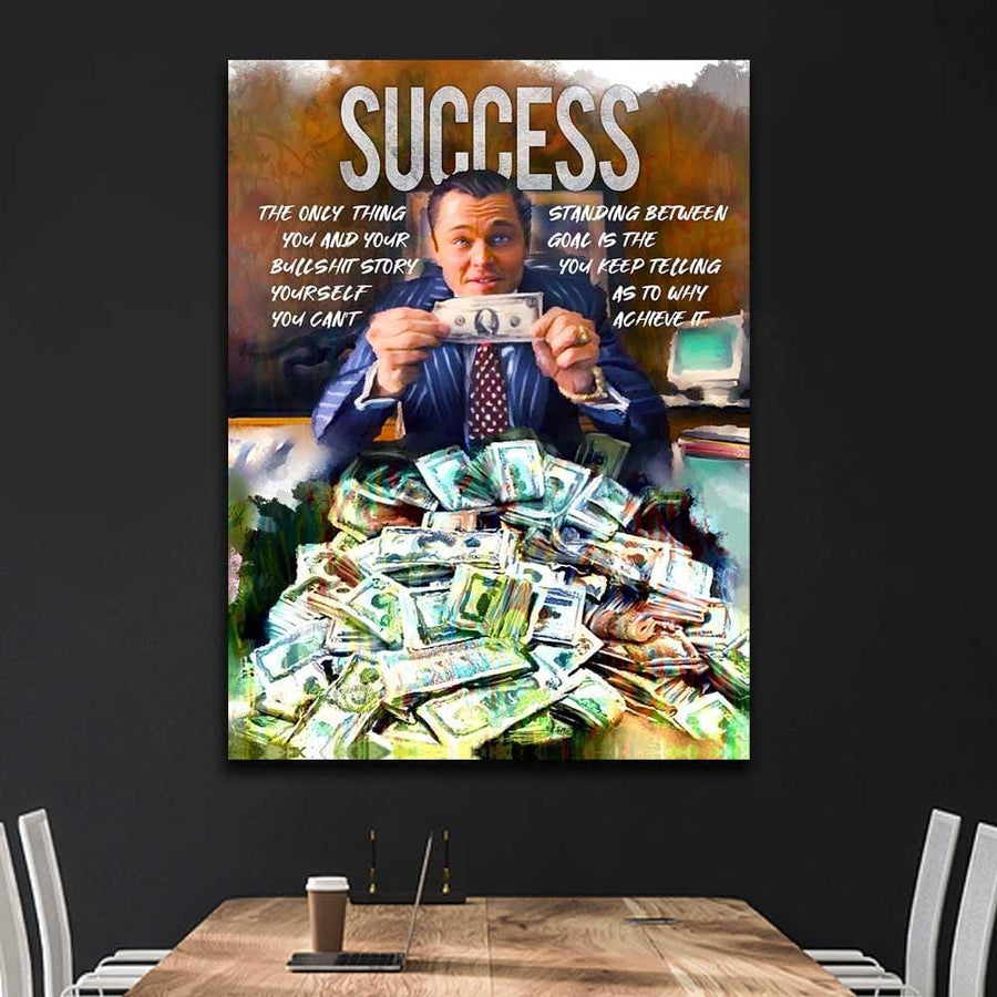 Success Wall Street Movie motivational canvas art