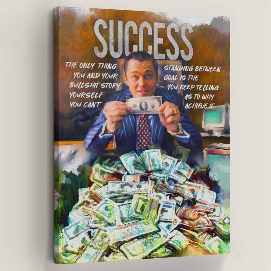 Success Movie inspirational quotes On Canvas