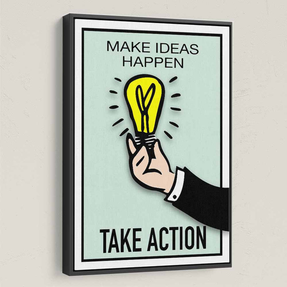 Take Action-Canvas-Symbolic Designs - Monopoly Inspired Game On Motivational Art