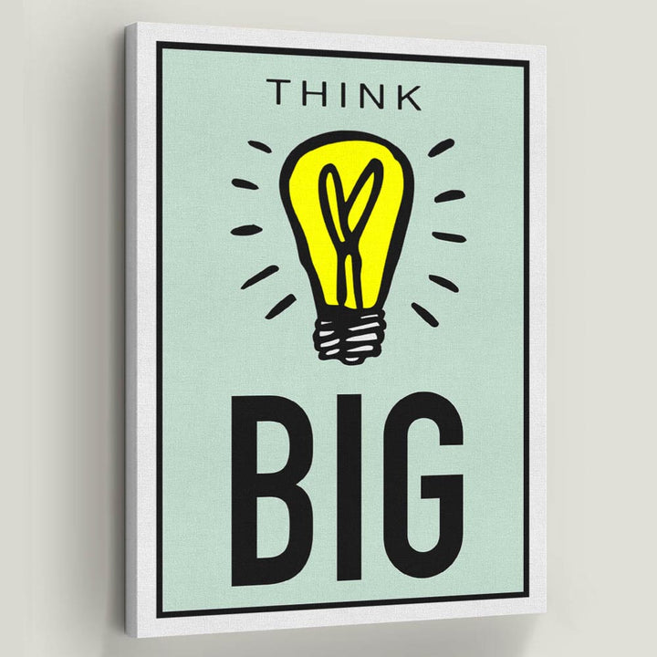 Think Big-Canvas-Symbolic Designs - Monopoly Inspired Game On Motivational Art