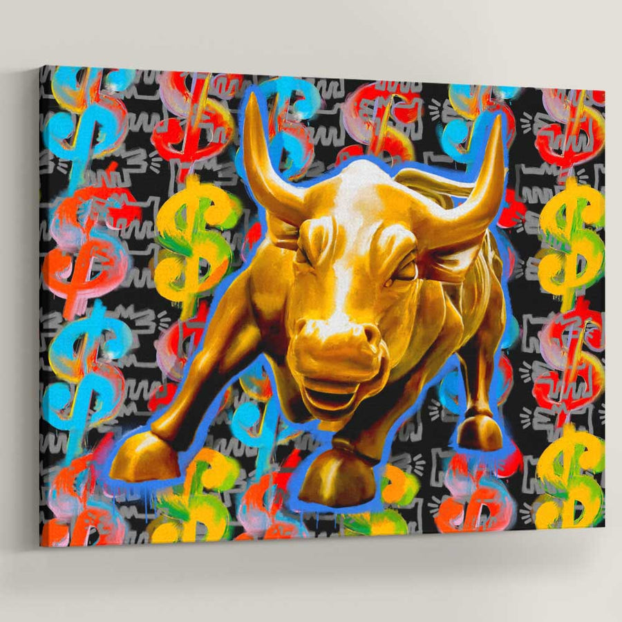 Wall Street Cash Bull Art