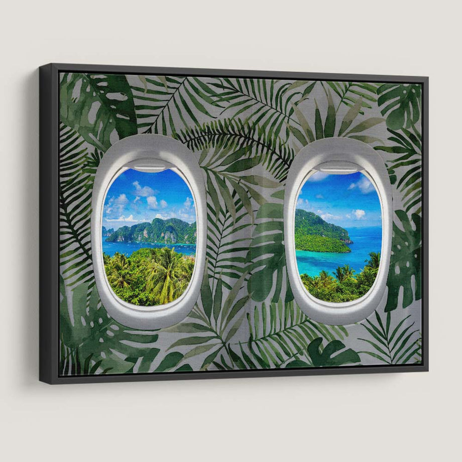 First Class Views (Tropical) Inspirational and Affordable Canvas Art