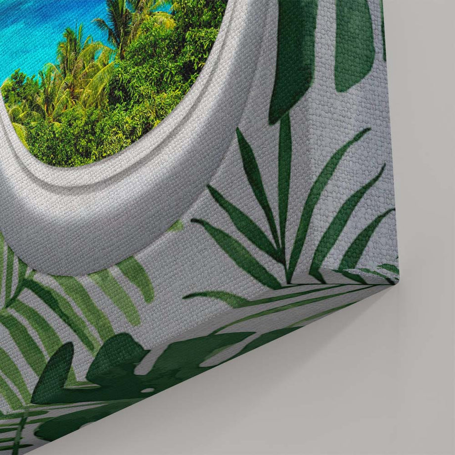 Take your vacation vibes with you wherever you go! Enhance your walls with this Tropical art that will be a great addition to your personal art collection! This art looks great in an office, living room, bedroom, hallway, or wall, the possibilities are endless!