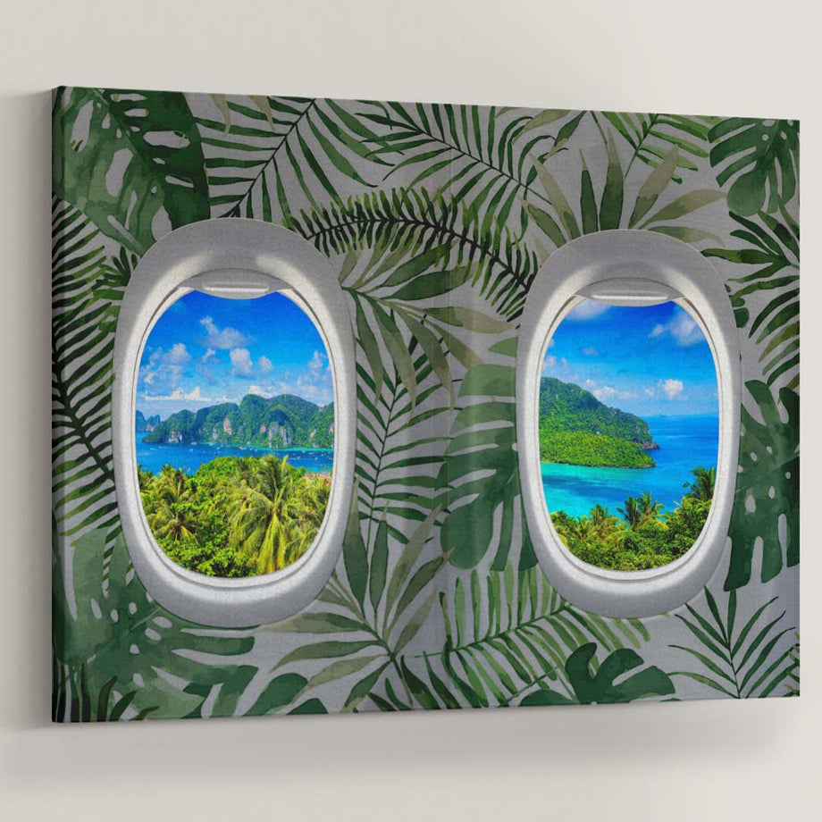 "Live life with the windows wide open, and let the light shine! Introducing ""First Class Views (Tropical)"" a part of our Unwind Collection."