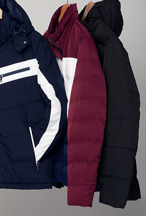 COMFORT FIT PUFFER JACKET WITH DETACHABLE HOOD