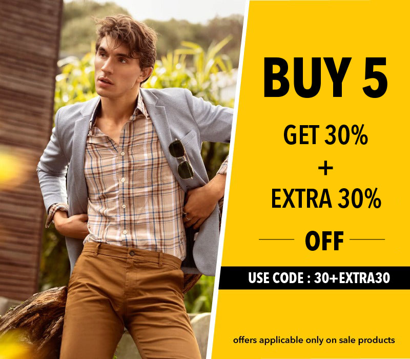 Buy 5 Get 30% + Extra 30% off