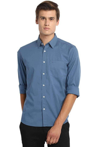 BASICS SLIM FIT HEAVEN BLUE STRETCH SHIRT-20BSH45968