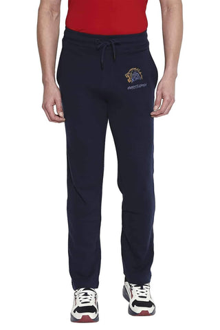 CSK ORIGINAL IPL MUSCLE SLIM FIT BLUE TRACK PANT (4674315649105)