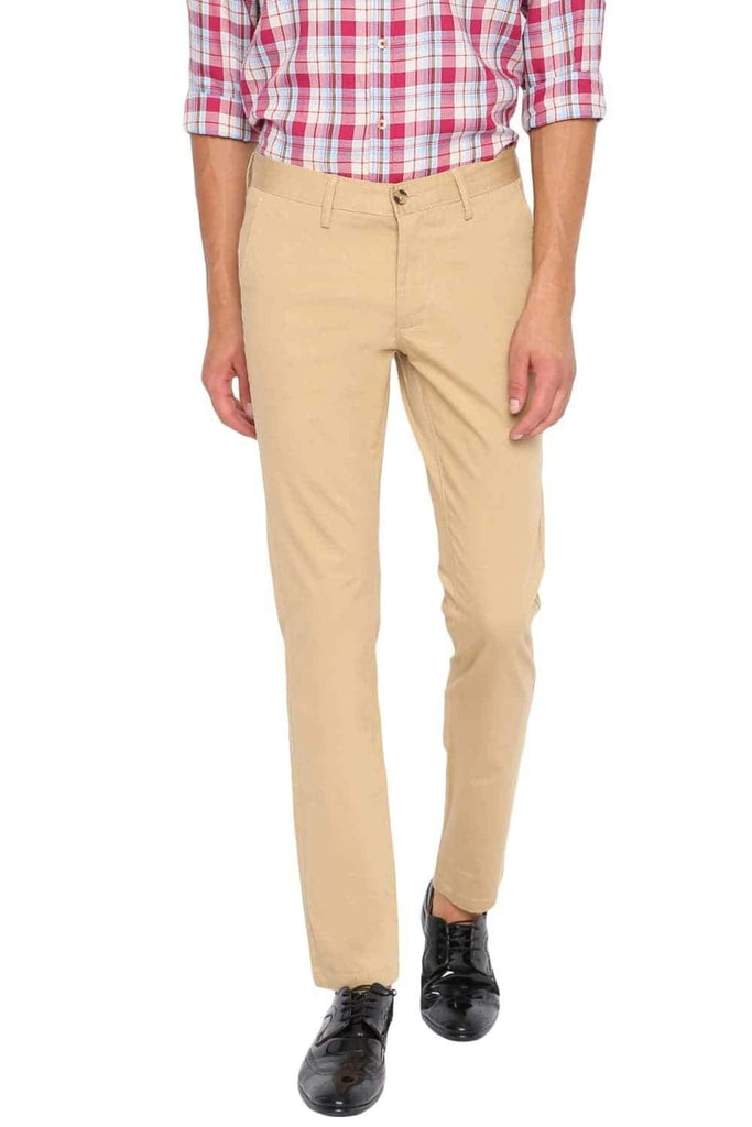 BASICS TAPERED FIT TAOS TAUPE STRETCH TROUSER-20BTR45430