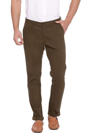 BASICS TAPERED FIT DEEP LICHEN STRETCH TROUSER-20BTR46026