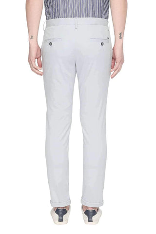BASICS TAPERED FIT PEARL BLUE STRETCH TROUSER-20BTR46049