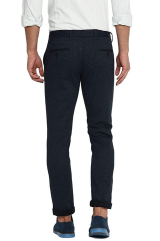 BASICS TAPERED FIT MIDNIGHT NAVY STRETCH TROUSER-20BTR46055