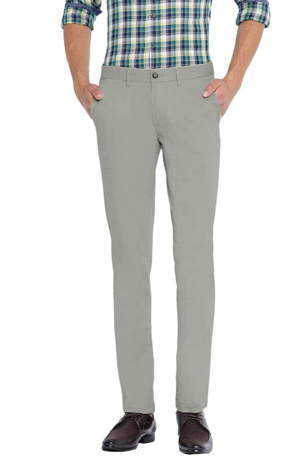 BASICS TAPERED FIT AGATE GREY STRETCH TROUSER-20BTR46056