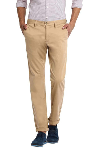 BASICS TAPERED FIT CROISSANT STRETCH TROUSER-20BTR46057